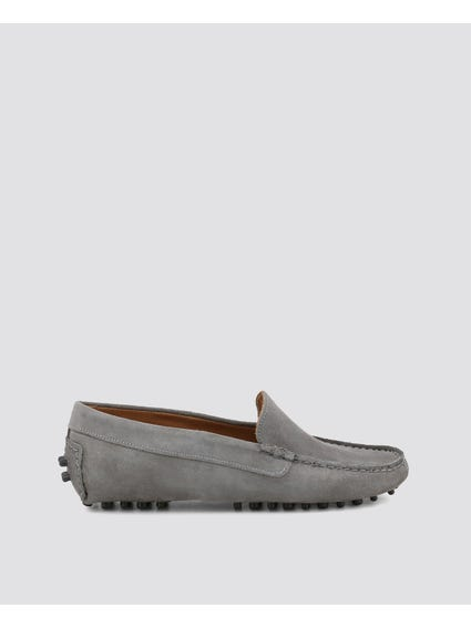 Grey Suede Fotoromanza Loafer