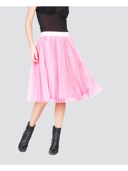 Pink Elasticated Tulle Skirt
