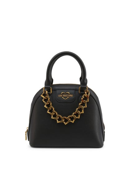 Black Dual Top Hand Bag
