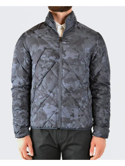 Grey Camo Quilted Jacket