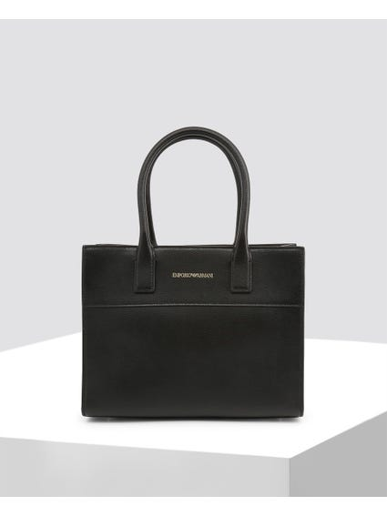 Black Pain Textured Handbag
