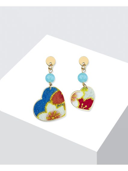 Blue Celeste Brass Earrings