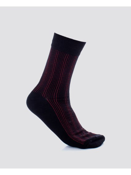 Black Dots Pattern Socks
