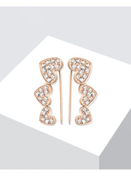 Rosegold Diamonds Earrings