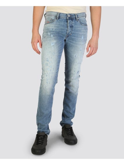 Tepphar Button Washed Slim Fit Jeans