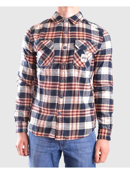 Multi Flannel Check Long Sleeves Shirt