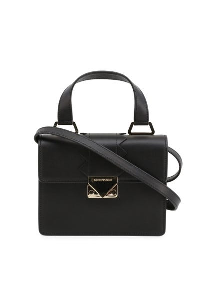 Black Leather Strap Tote Bag