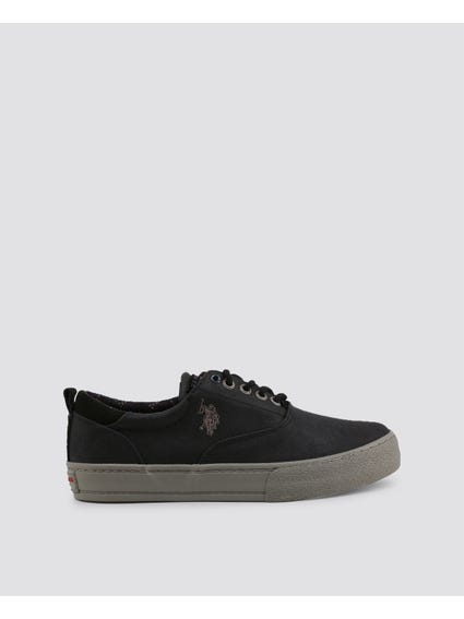 Black Galan Thick Outsole Sneakers