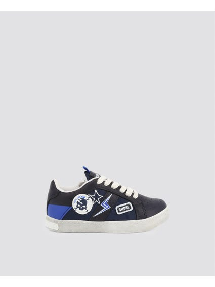 Black Patch Kid Sneakers