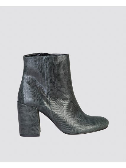 Grey Alessandra Zipped Ankle Boots