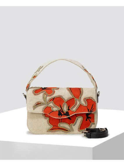 Hibiscus Satchel Bag