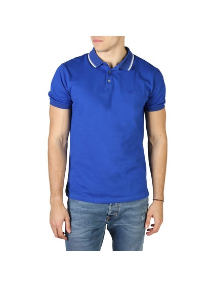 Blue Plain Polo Shortsleeve Shirt