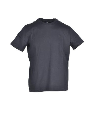Navy  Crew Neck Plain T-shirt