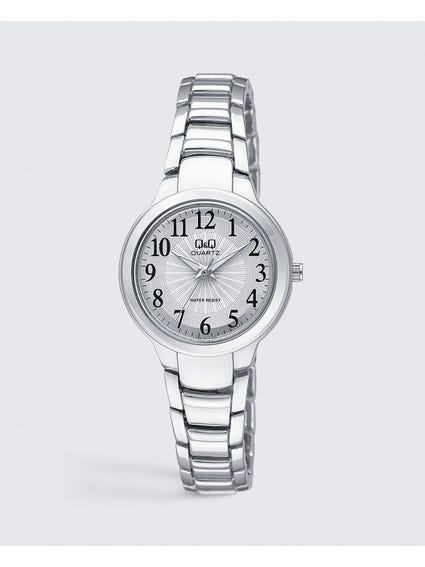 Silver Stainless Steel Quartz Watch