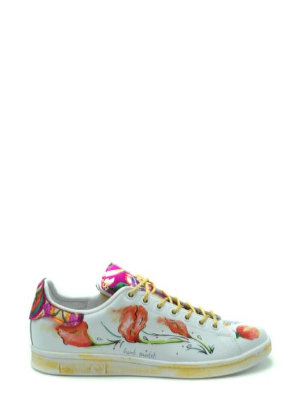 Floral Printed Lace Sneakers