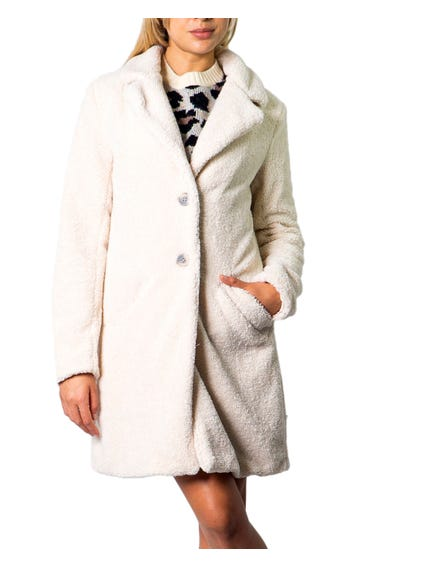 Two Buttoned Lapel Coat