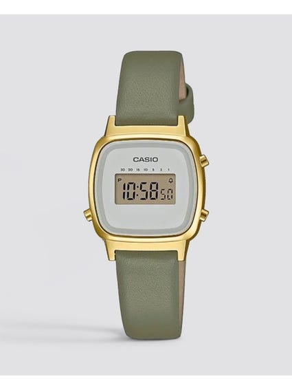 Grey Vintage Leather Watch