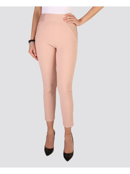 Pink Cropped Trouser