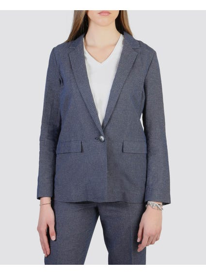 Blue Pocket Detail Blazer