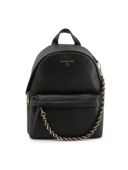 Black Zip Chain Backpack