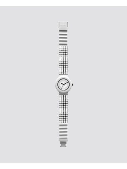 White Mosaic Analog Watch