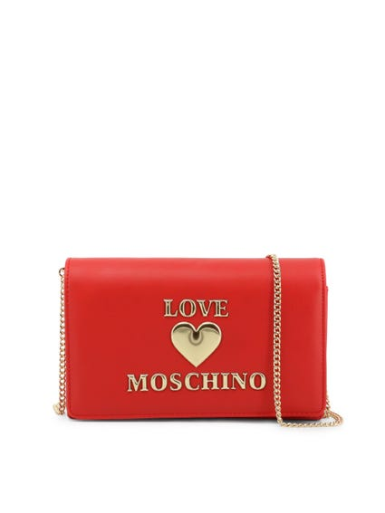 Red Love Chain Clutch Bag