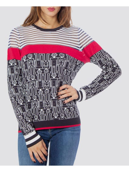 Long Sleeve Pattern Sweatshirt