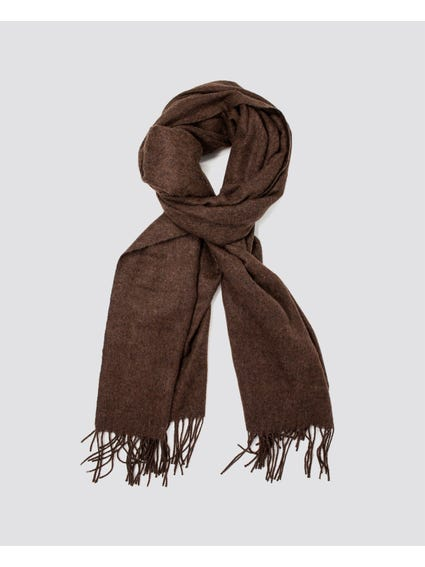 Brown North Wool Scarf