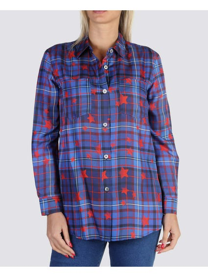 Checked Star Print Shirts