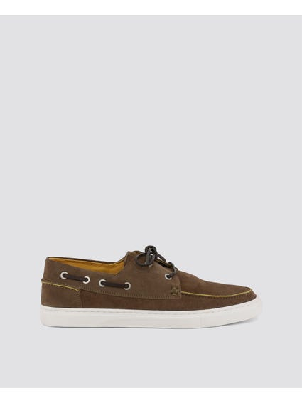 Brown Glan Side Lace Moccasins