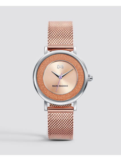 Rose Gold Casual Stainless Steel Watch