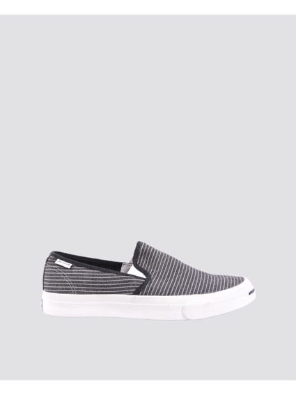 Striped Print Slip On Sneakers