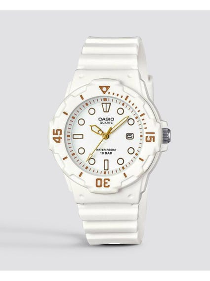 White Resin Band Quartz Watch