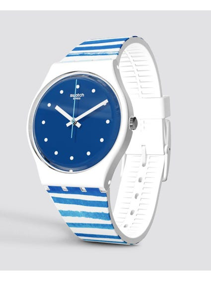 Blue Sea View Silicone Watch