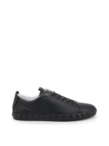 Black Mat Leather Sneakers