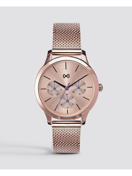 Rose Gold Acero Multifunction Village Watch