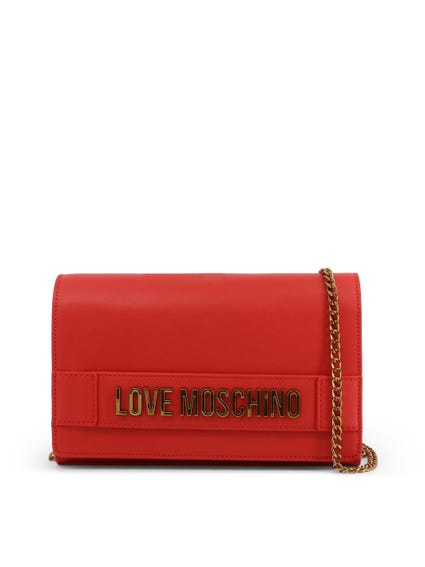 Red Embellish Love Clutch Bag