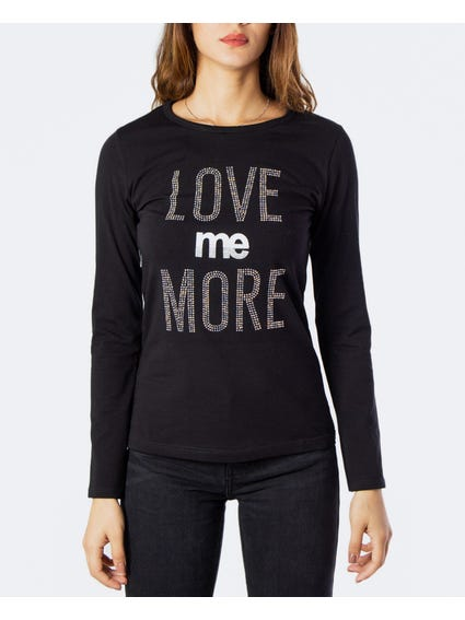 Embellished Love Me More Long Sleeves T-Shirt