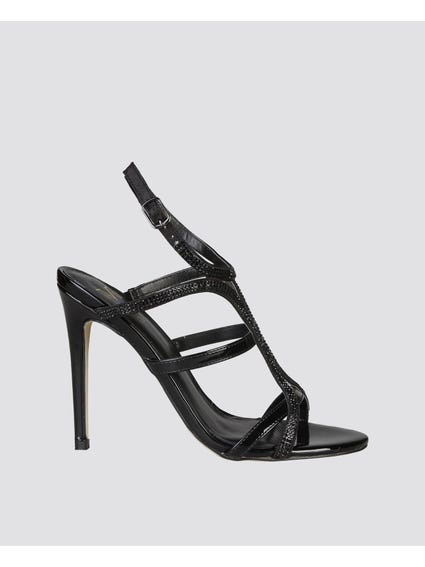 Nina Nero Strap High Heel Sandals