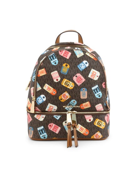 Printed Zipper Backpack