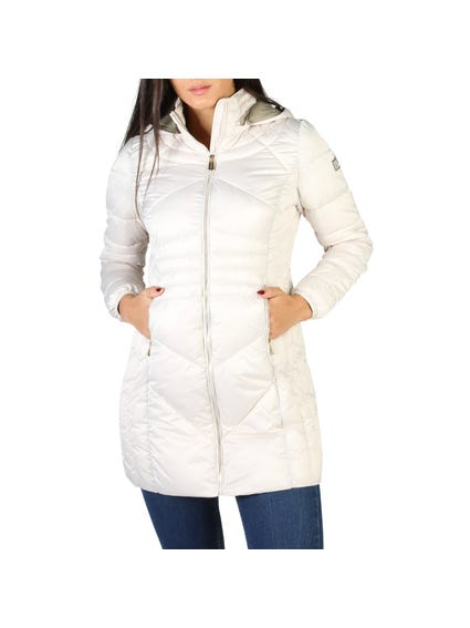 White Zip Hooded Jacket