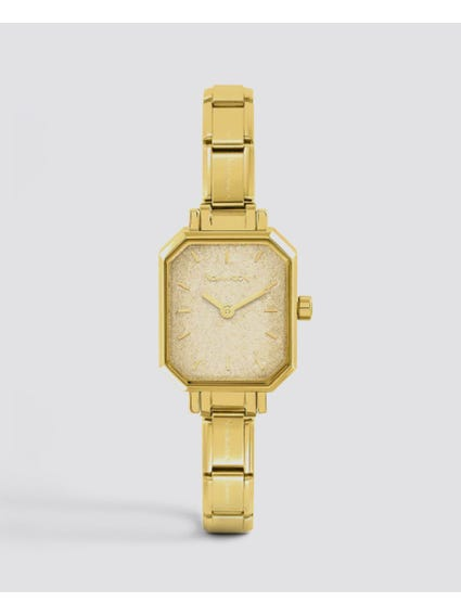 Classic Paris Gold Glitter Dial Watch