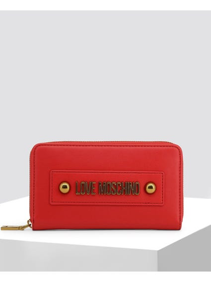 Red Double Front Studs Wallet