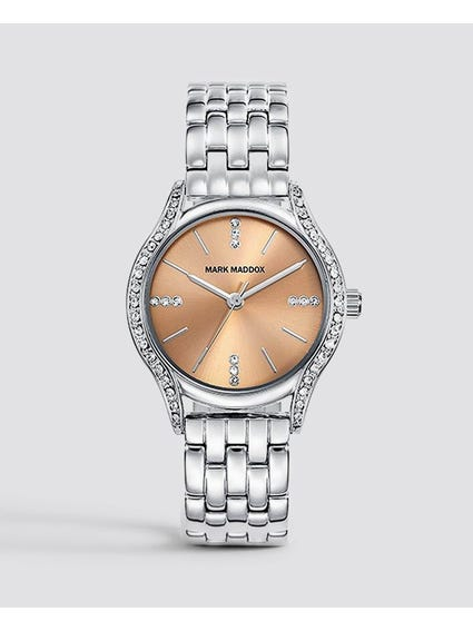 Silver Crystal Stainless Steel Watch
