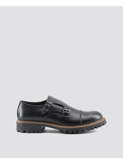 Vittorio Cleated Sole Monk Shoes