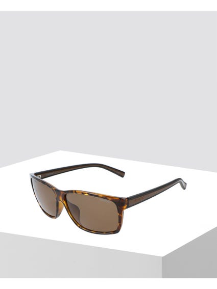 Brown Printed Polarized Sunglasses