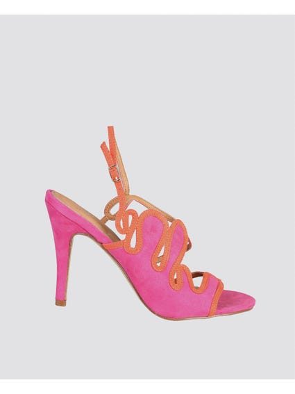 Pink Margot Leather Sandals