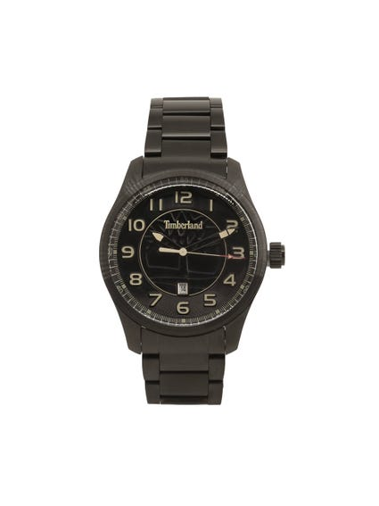 Black Analog Steel Strap