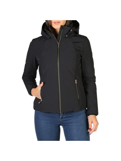 Black Zip Pocket Hood Jacket