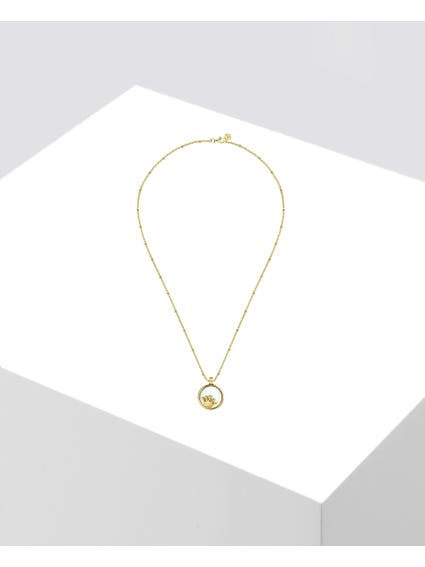 Gold Crown Charm Necklace